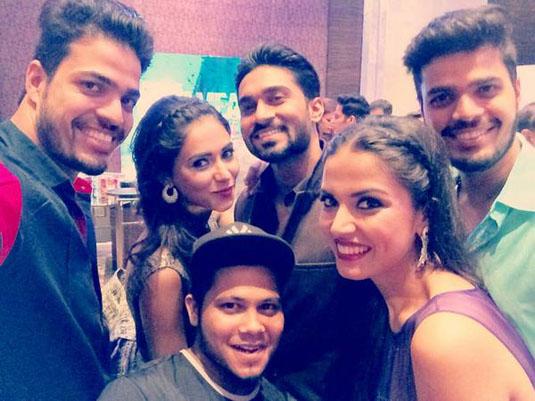 Salman Yusuff Khan With Miss Diva Contestants