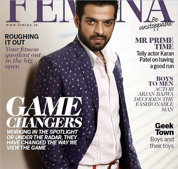 Karan Patel As Mr Prime Time On The Cover Of The Femina Men's Magazine