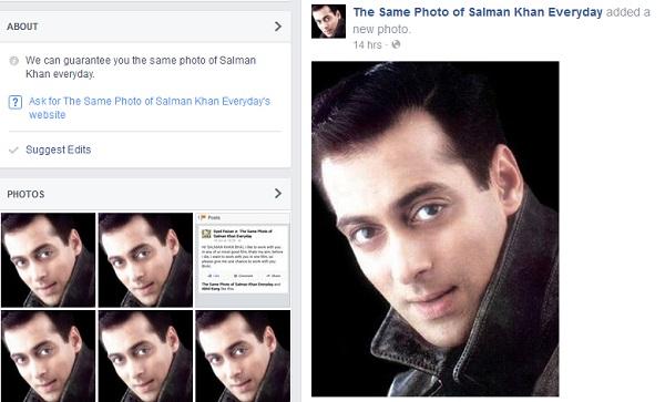 The Same Photo Of Salman Khan Everyday