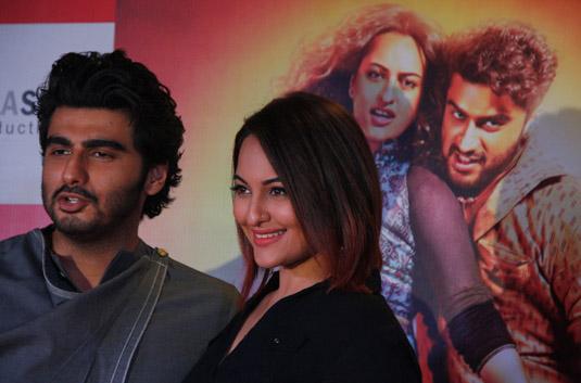 Arjun Kapoor And Sonakshi Sinha Promoting Their Upcoming Movie 'Tevar'