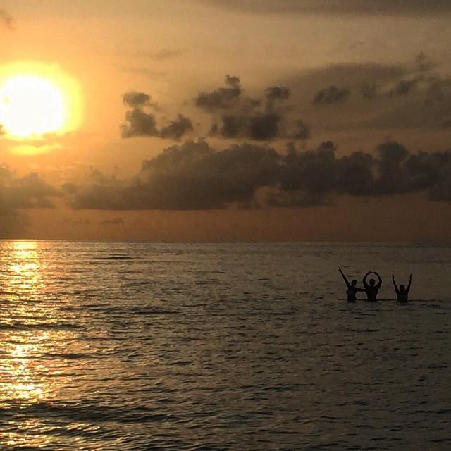 Karan Singh Grover In The Water At Maldives