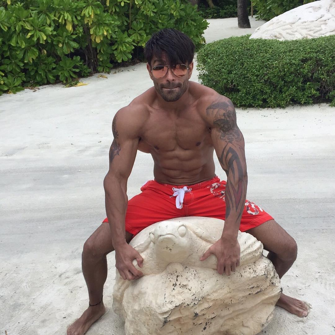 On The Beach At Maldives With Karan Singh Grover