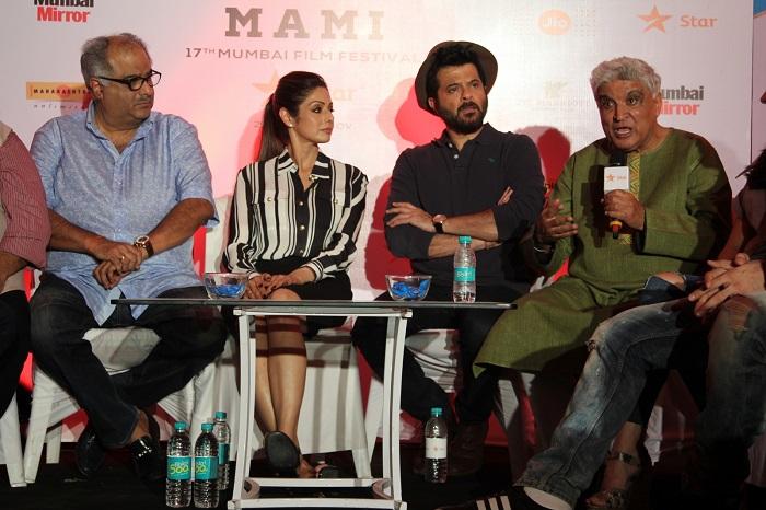 Boney Kapoor, Sridevi, Anil Kapoor And Javed Akhtar