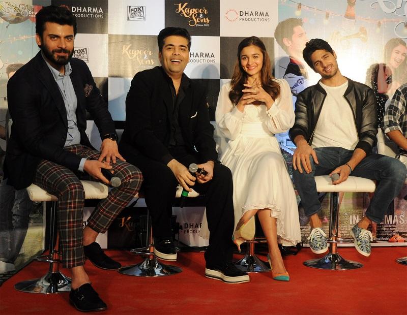 Fawad Khan, Karan Johar, Alia Bhatt, Sidharth Malhotra