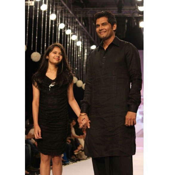 Amar Upadhyay With Daughter Chenab Upadhyay