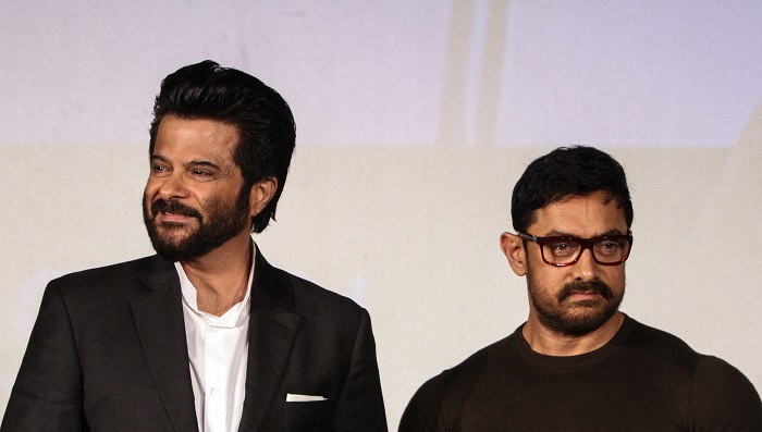 Anil Kapoor And Aamir Khan At The Launch Of 24