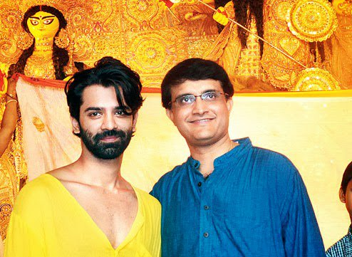 Barun Sobti With Sourav Ganguly