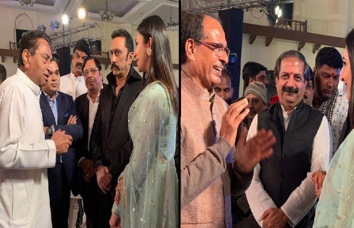 Divyanka Tripathi With Kamal Nath And Shivraj Singh Chauhan
