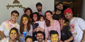 Barun Sobti With Pashmeen And Daughter Along With Sanaya Irani And Friends