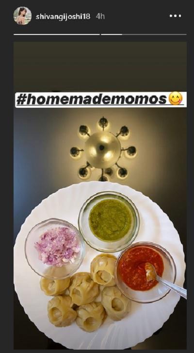Shivangi Joshi's Instagram Story