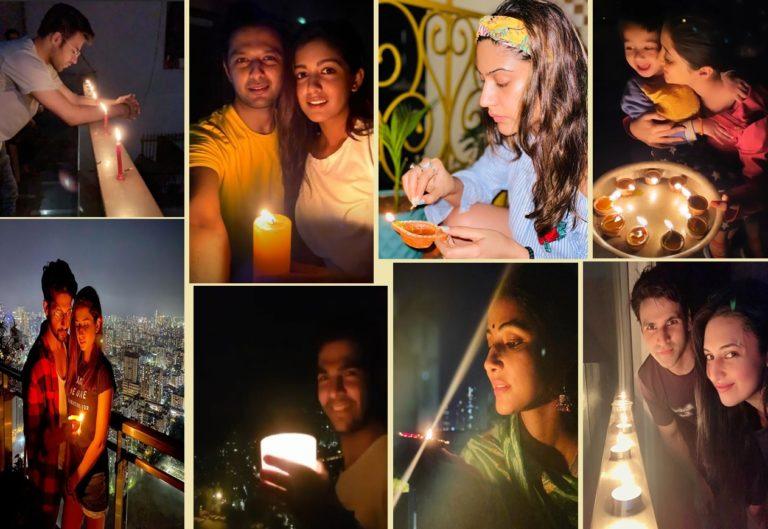 Have A Look At How Shivangi Joshi, Surbhi Chandna, Ravi Dubey, Hina Khan And Other Television Stars Lit The Lamps To Express Solidarity