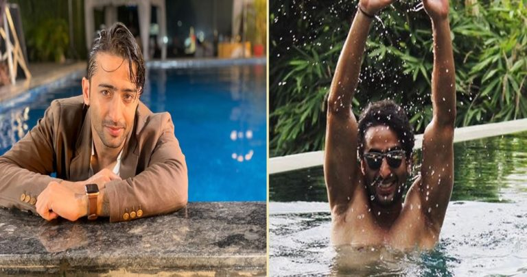 Shaheer Sheikh : Lighting FIRE In Water With His Pool Stills!