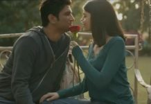 Sushant Singh Rajput And Sanajana Sanghi In Dil Bechara