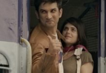 Sushant Singh Rajput And Sanjana Sanghi In Dil Bechara