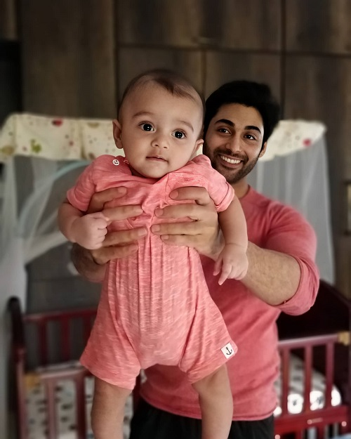 Ruslaan Mumtaz With His Son