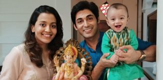 Ruslaan Mumtaz With Wife and Son