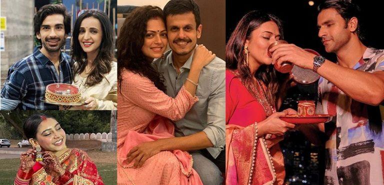 Divyanka Tripathi, Niti Taylor, Sanaya Irani and Drashti Dhami Celebrating Karwa Chauth – IN PICS