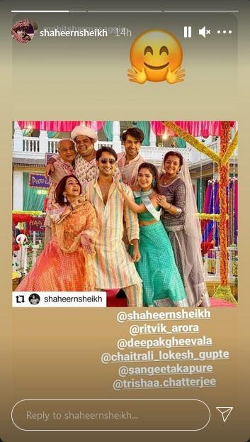 Shaheer Sheikh Instagram Story On Yeh Rishtey Hain Pyaar Ke